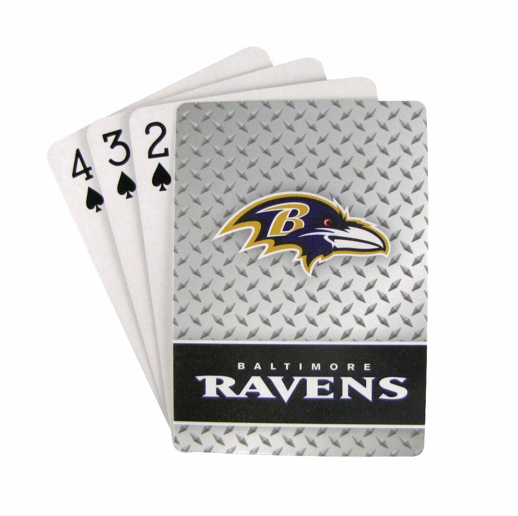 Baltimore Ravens Playing Cards - Diamond Plate - Pro Specialties Group