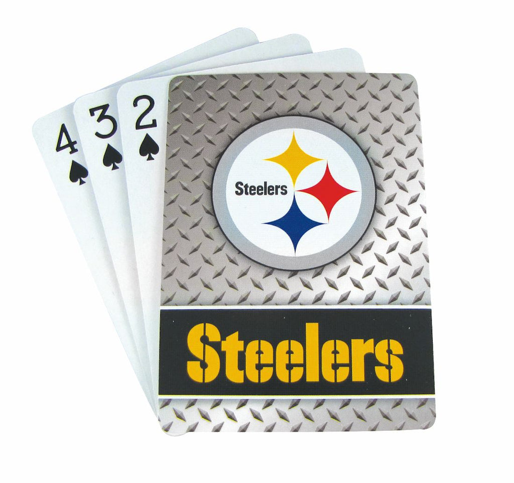 Pittsburgh Steelers Playing Cards - Diamond Plate - Pro Specialties Group