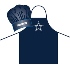 Dallas Cowboys Apron and Chef Hat Set Alternate - Pro Specialties Group