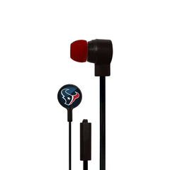 Houston Texans Big Logo Ear Buds - Mizco Sports