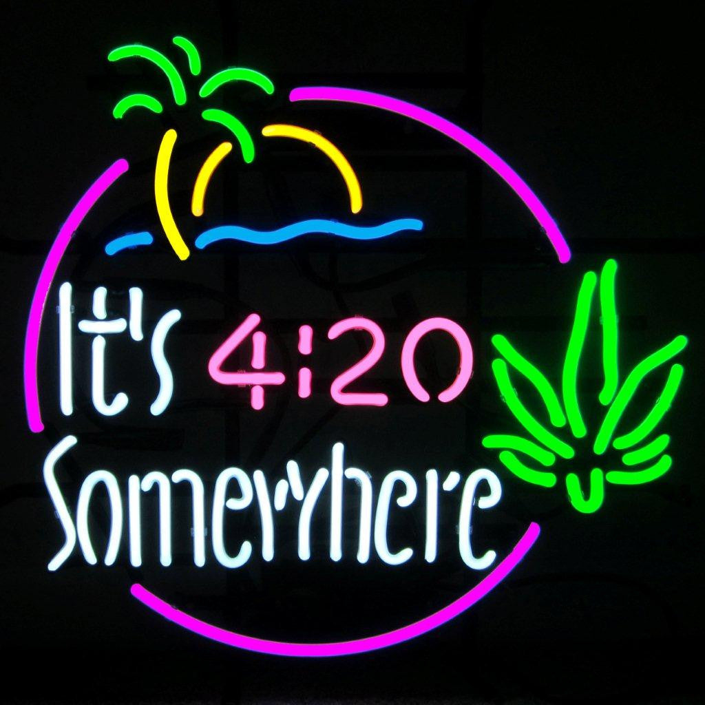 IT'S 4:20 SOMEWHERE ISLAND NEON SIGN