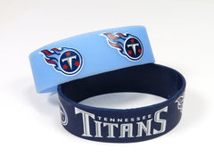 Tennessee Titans Bracelets 2 Pack Wide - Aminco
