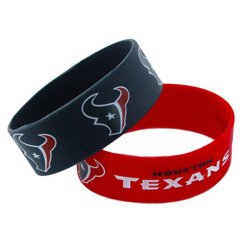 Houston Texans Bracelets 2 Pack Wide - Aminco