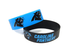 Carolina Panthers Bracelets 2 Pack Wide - Aminco