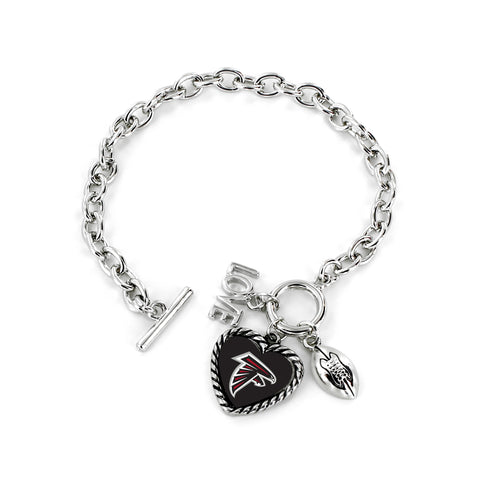 Atlanta Falcons Bracelet Charmed Sport Love Football - Aminco
