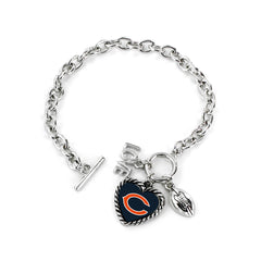 Chicago Bears Bracelet Charmed Sport Love Football - Aminco