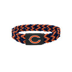 Chicago Bears Bracelet Braided Navy and Orange - Aminco