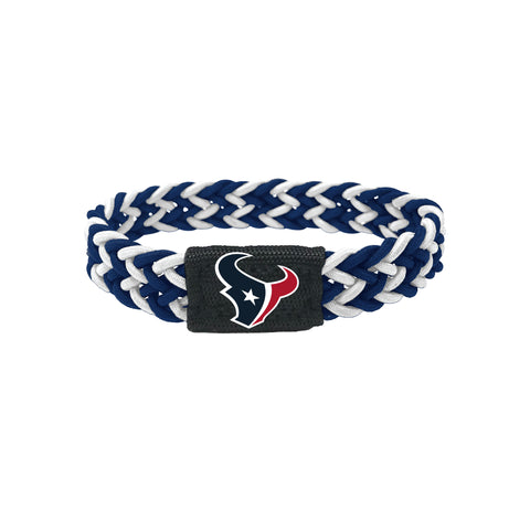 Houston Texans Bracelet Braided Navy and White - Aminco