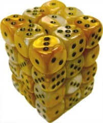 Chessex - Chessex: Gemini Gold-White/Black 12Mm D6 Dice Block