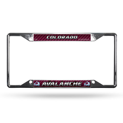 Colorado Avalanche License Plate Frame Chrome EZ View - Rico Industries