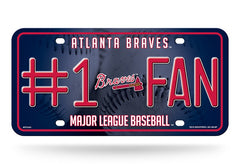 Atlanta Braves License Plate #1 Fan - Rico Industries
