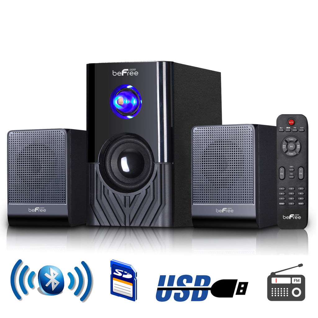 Befree Sound beFree Sound 2.1 Channel Surround Sound Bluetooth Speaker System -Black