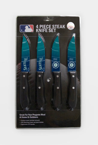 Seattle Mariners Knife Set - Steak - 4 Pack - The Sports Vault
