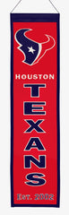 Houston Texans Banner 8x32 Wool Heritage - Winning Streak Sports