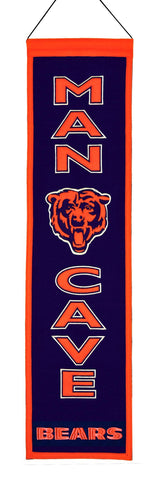 Chicago Bears Banner 8x32 Wool Man Cave - Winning Streak Sports