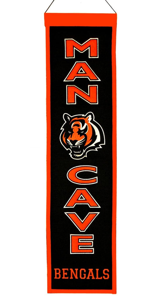 Cincinnati Bengals Banner 8x32 Wool Man Cave - Winning Streak Sports