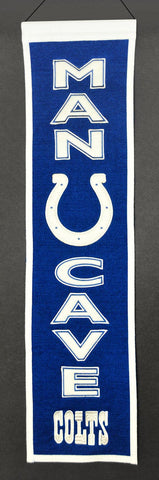 Indianapolis Colts Banner 8x32 Wool Man Cave - Winning Streak Sports