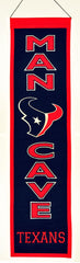 Houston Texans Banner 8x32 Wool Man Cave - Winning Streak Sports