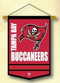 Tampa Bay Buccaneers Banner 12x18 Mini Wool - Winning Streak Sports