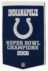 Indianapolis Colts Banner 24x36 Wool Dynasty - Winning Streak Sports