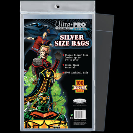 Comic Bags - Silver Size (100 per pack) - Ultra Pro
