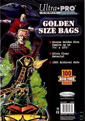 Comic Bags - Golden Size (100 per pack) - Ultra Pro