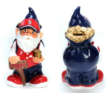 St. Louis Cardinals Garden Gnome - Coin Bank - Forever Collectibles
