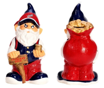 Cleveland Cavaliers Garden Gnome - 10'' Bank - Forever Collectibles