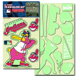 Cleveland Indians Decal Lil Buddy Glow in the Dark Kit - Team Promark