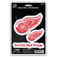 Detroit Red Wings Decal Die Cut Team 3 Pack - Team Promark