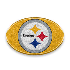 Pittsburgh Steelers Auto Emblem - Oval Color Bling - Team Promark
