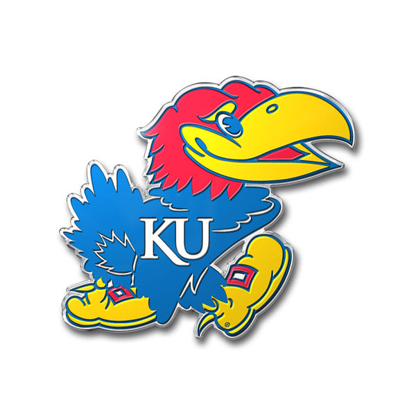 Kansas Jayhawks Auto Emblem - Color - Team Promark