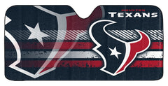 Houston Texans Auto Sun Shade - 59''x27'' - Team Promark