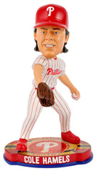 Philadelphia Phillies Cole Hamels Forever Collectibles Baseball Base Bobblehead - Forever Collectibles