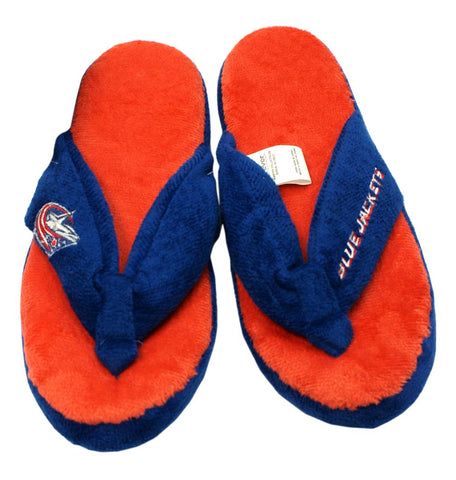 Columbus Blue Jackets Slippers - Womens Thong Flip Flop (12 pc case) - Forever Collectibles
