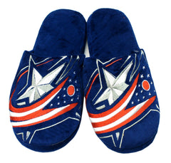 Columbus Blue Jackets Slippers - Mens Big Logo - Forever Collectibles