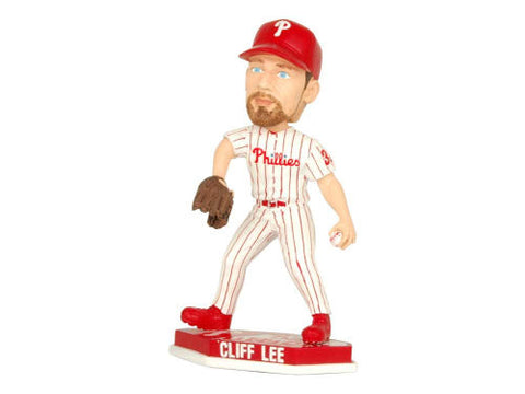 Philadelphia Phillies Cliff Lee Forever Collectibles Plate Base Bobblehead - Forever Collectibles