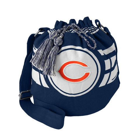 Chicago Bears Bag Ripple Drawstring Bucket Style - Little Earth