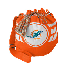 Miami Dolphins Bag Ripple Drawstring Bucket Style - Little Earth