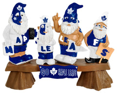 Toronto Maple Leafs Garden Gnome - Fans on Bench - Forever Collectibles
