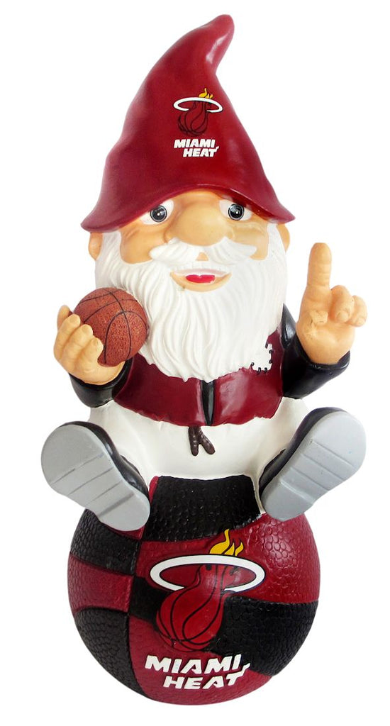 Miami Heat Garden Gnome - On Team Logo - Forever Collectibles