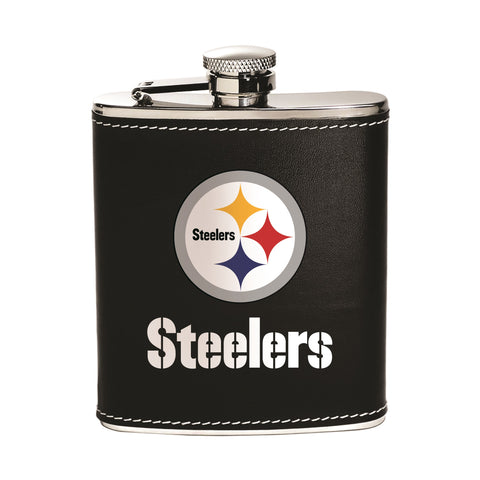 Pittsburgh Steelers  Flask - Stainless Steel - Boelter Brands