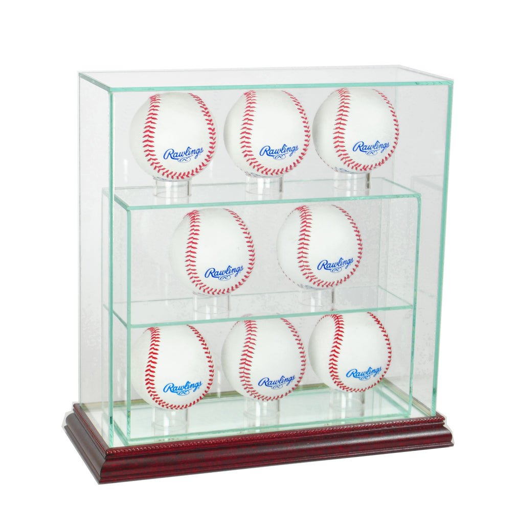 8 Upright Glass Display Case with Cherry Moulding