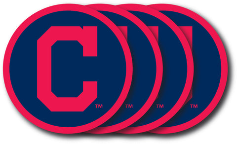 Cleveland Indians Coaster Set - 4 Pack - Duck House Sports
