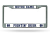 Notre Dame Fighting Irish License Plate Frame Chrome - Rico Industries