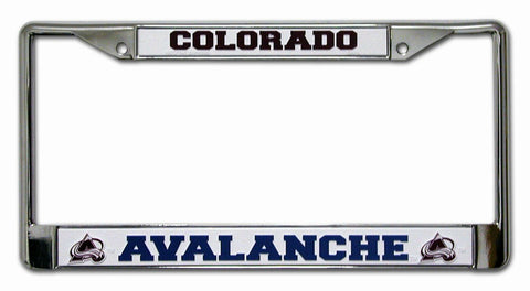 Colorado Avalanche License Plate Frame Chrome - Rico Industries