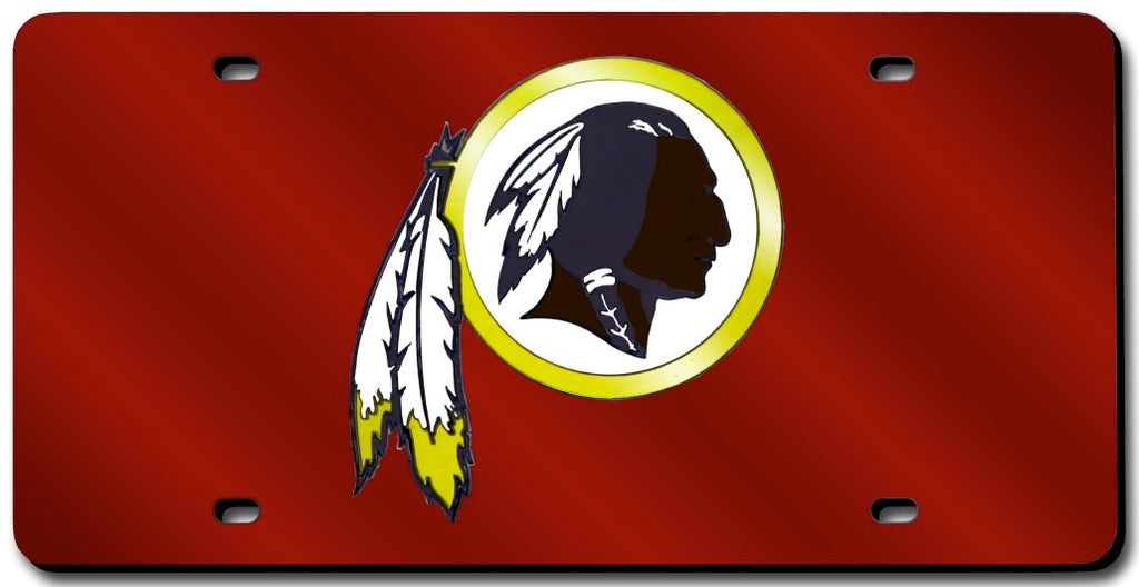 Washington Redskins License Plate Laser Cut Red - Rico Industries