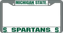 Michigan State Spartans License Plate Frame Chrome - Rico Industries