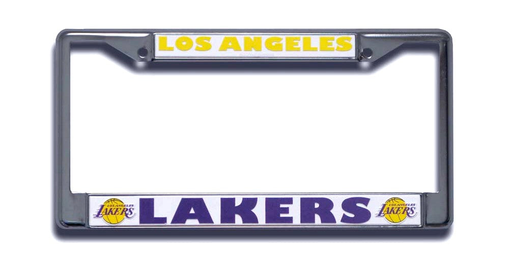 Los Angeles Lakers License Plate Frame Chrome - Rico Industries