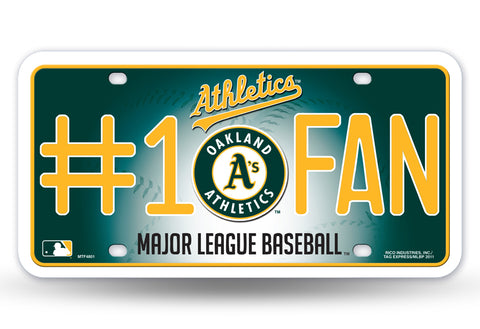 Oakland Athletics License Plate #1 Fan - Rico Industries